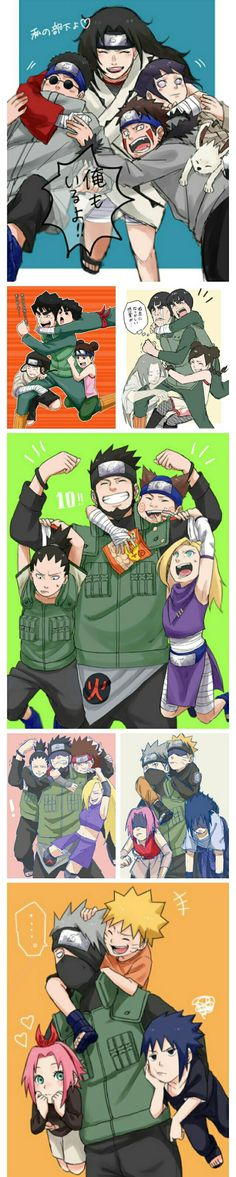 The teams of naruto Naruto Uzumaki, Anime Naruto, Naruto Comic, Manga Anime, Naruto Cute, Shikamaru, Otaku Anime, Kakashi, Naruhina