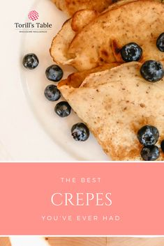 (Recipe) Making Torill's Table Mix into Crepes Norwegian Style, Gluten Free Waffles, Crepes, Food To Make, Pancakes, Fill, Vanilla, Warm, Traditional