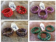 Wrap Bracelet made from recycled magazines! All jewelry proceeds fund education for kids in Uganda, Africa. Ekisa Recycled Paper Bead Wire Wrap Cuff by EkisaPaperBeads, $8.50