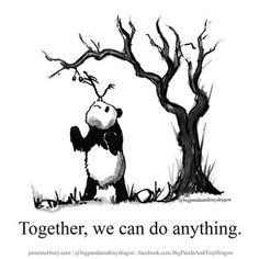 Big Panda, Little Panda, Introvert Vs Extrovert, Dragon Quotes, Teamwork And Collaboration, Charlie Mackesy, Dragon Comic, Tiny Dragon, Writing Challenge