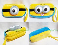 Despicable Me Minions Makeup Bag Pencil Case Pouch Soft Plush Zipper Purse | eBay