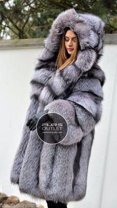 NEW 2017 SILVER FOX FUR COAT HOOD CLAS OF CHINCHILLA SABLE JACKET MINK LYNX VEST