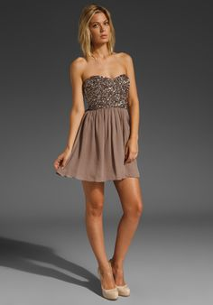 beaded strapless dress