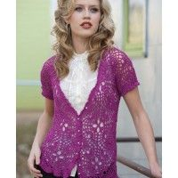 This lace crochet cardigan is gorgeous! Paige Sweetheart Top | InterweaveStore.com