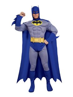Adult Deluxe Classic Comic Book Batman Muscle Chest Fancy Dress Costume £33.95