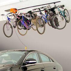 bicycle overhead storage | overhead bike lift