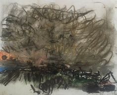 "Joan Eardleyand her pastel landscapes: Joan Eardley, ""Stormy Sky Over Catterline,"" c.1962-63, pastel on paper, 8 x 9 7/8 in, Scottish National Gallery of Modern Art, Edinburgh"