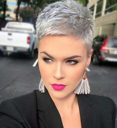 New Short Hairstyles, Short Pixie Haircuts, Short Hairstyles For Women, Trendy Haircuts, Hairstyle Short, Short Pixie Cuts, Pixie Haircut Styles, Bob Hairstyles, Haircut Short