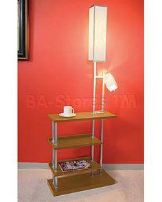 Ravenswood Floor Lamp with Light Wood Shelves. Awesome for a dorm! Wood, Shelves, Lamp, Remodel, Floor Lamp With Shelves, Home Decor, Floor Lamp, Wood Shelves, Bathrooms Remodel