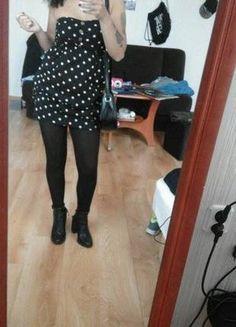 Kup mój przedmiot na #vintedpl http://www.vinted.pl/damska-odziez/krotkie-sukienki/10550216-urocza-czarna-sukienka-w-groszki