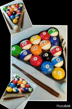 Check this out! Pool ball cupcakes. .pretty cool