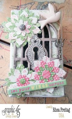 Love this Springtime Botanical Tea altered Matchbook Box by Rhea #graphic45