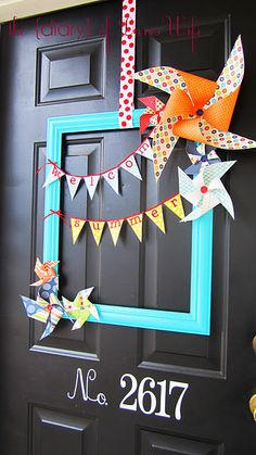 pinwheels & flag garlands - together?
