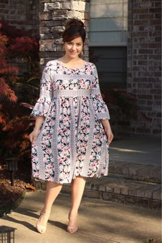 Our Christy dress has just been added  this adorable floral tribal print is everything! Get yours today at www.theskirtsociety.com