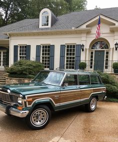 All American prep, my Jeep Wagoneer Limited // All Your Ducks In A Row. Vintage Jeep, Vintage Cars, Station Wagon Cars, Jeep Wagoneer, Jeep Pickup, Jeep Cars, Jeep Grand, Future Car, Old Trucks