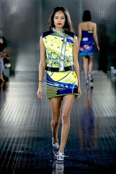 The Mary Katrantzou Designs We're Praying Adidas Recreates #refinery29  http://www.refinery29.com/2014/04/66364/adidas-mary-katrantzou-collaboration#slide1  C'mon, we already see the laces in this spring '14 look. All this creation needs are some signature adidas stripes and, well, a sole to make our dreams come true.