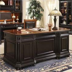 Riverside Furniture Allegro Executive Desk in Rubbed Black - 44732