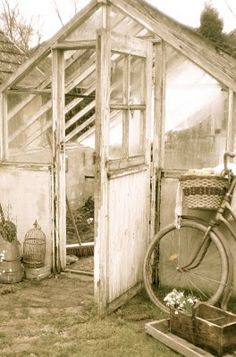 Vintage potting shed. Love it!