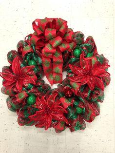 Christmas wreath, decomesh wreath