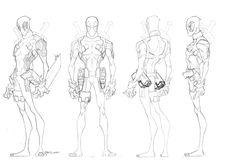 """Jeff Matsuda """"Here are some turns from the Hulk vs Wolverine DTV. I illustrated the 3/4 fronts and the amazing Jon Suzuki turned these bad boys WAY better than I ever could. Jon's ability to translate mass across the turn is a joy to behold. (2048×1402)"""