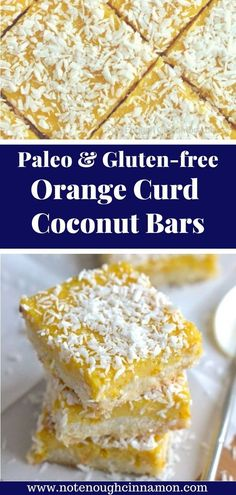 Paleo Coconut Bars with Orange Curd Paleo Coconut Bars with Orange Curd Erin Texanerin Baking texanerinbaking Paleo Satisfy your sweet tooth with these healthy Paleo Coconut nbsp hellip avocado brownie New Year's Desserts, Cute Desserts, Christmas Desserts, Christmas Recipes, Paleo Dessert, Healthy Dessert Recipes, Paleo Recipes, Paleo Treats, Snacks Recipes