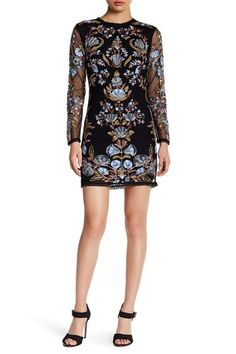 Image of Free People Royal Embroidered Bodycon Mini Dress