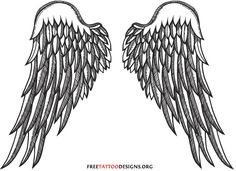 Angel Tattoos | Angel Wings, Guardian Angel and St Michael Designs  #LoveTheDesign