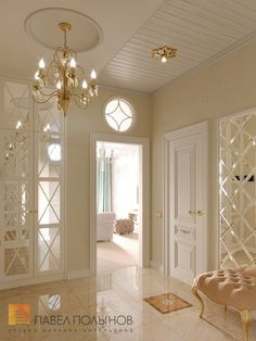 """Коридоры, холы, прихожие / Нallway Photo interior of the hall from the project """"Design of a three-room apartment in a classic style, LCD Aristocrat, Luxury Homes Interior, Luxury Home Decor, Interior Design Living Room, Living Room Decor, Classic Interior, Elegant Homes, New Homes, House Design, Decoration"""
