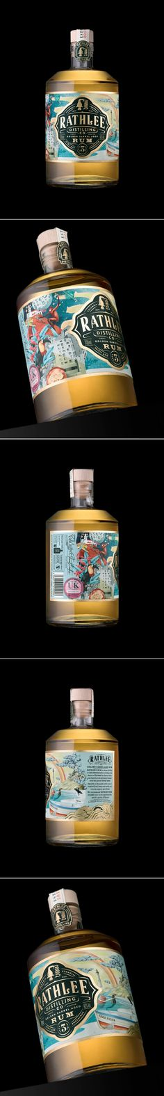 Rathlee Rum Comes With Wonderful Whimsical Illustrations — The Dieline | Packaging & Branding Design & Innovation News
