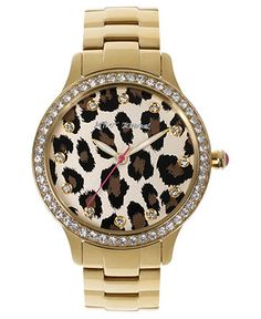 Betsey Johnson Watch, Women's Gold-Tone Stainless Steel Bracelet 40mm BJ00157-08 - Women's Watches - Jewelry & Watches - Macy's