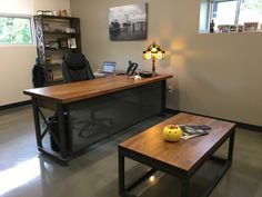 | industrial office furniture | | modern industrial commercial furniture | | rustic office furniture | http://www.ironageoffice.com/