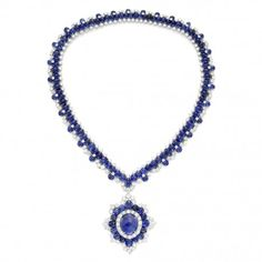 Sapphire and diamond pendant necklace, by Van Cleef & Arpels, circa 1970