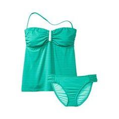 Mossimo® Women's Stripe 2-Piece Tankini Swimsuit -Mint Quick Information