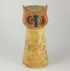 Bitossi Italy for Rosenthal-Netter Owl Candleholder Mid-Century Modern
