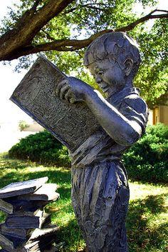 Reading Boy Sculpture at the Breckenridge Fine Arts Center