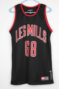 REEBOK Crossfit Les Mills Black Red mens Tank Top Jersey Sz Small #Reebok #ShirtsTops