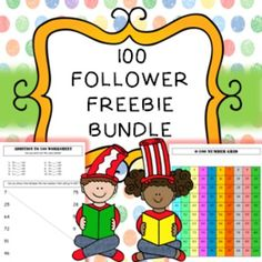 FREEBIE !! 100 FOLLOWER FREEBIE :)Here is a freebie of lots of different activities as my thank you for helping me to reach 100 followers ! :)This bundle includes;* Addition worksheet (1 page)* Handwriting worksheets (15 pages)* I have who has game (6 pages)* Make 100 dominos (7 pages)* Caterpillar missing number lines (2 pages)* Number grid activities (9 pages)* Number puzzles (2 pages)Click here to visit my store :) *********************************************************************If…