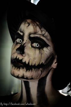 Evil halloween makeup #makeup #halloween #evil #monster #wheelove