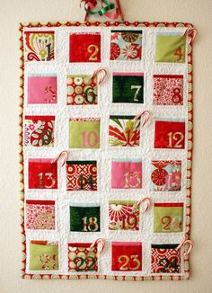 Advent Calendar! @Melanie Bauer Jensen mom could help us sew one...