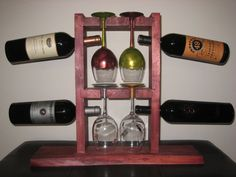 Handcrafted Cherry Wood Wine Rack by Fuddlesticks on Etsy, $45.00