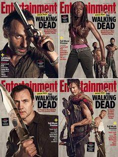 The Walking Dead, TWD, series, tv, amc, season 3, 3ª temporada http://spotseriestv.blogspot.com.br/search/label/The%20Walking%20Dead walker, zumbi, zombie, TW, Cover, Magazine, Revista,