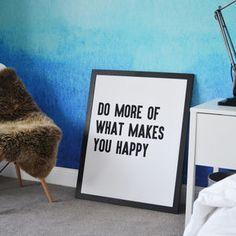 'Do More' Framed Typographic Print