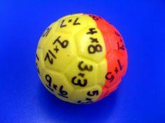 DIY Multiplication Ball. Love this idea!