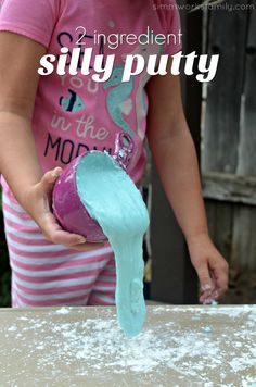 2 Ingredient Silly Putty - a quick and easy activity for kids