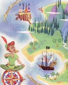Neverland, as in Disney Peter Pan...but try to find original Mary Martin performance!