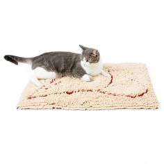 Tired of finding cat litter tracked all over your home? Or worse, stepping in it when you're barefoot? It's time to bring home a Cat Litter Mat! Use under litter boxes to instantly trap cat litter scatter.