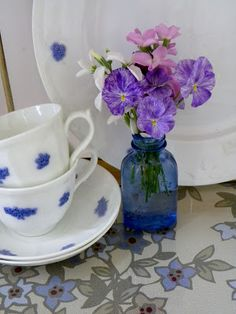 """""""Spatterware"""" violas make antique dishes look divine by Moments of Delight...Anne Reeves"""