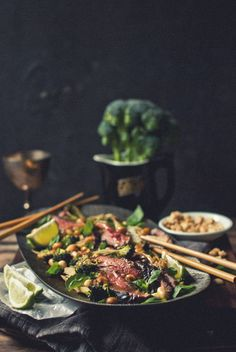 coconut flank and broccoli salad. i want this right now.