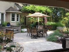 Grab some friends and share old memories in the comfort of your backyard with the help of Cambridge Pavers!