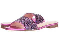 KATE SPADE Madeline Sandals Purple Glitter & Fuchsia $89 Pick Up or Ships Free BUY HERE http://rain-rossi.mybigcommerce.com/kate-spade-madeline-sandals-purple-glitter-fuchsia-89-pick-up-or-ships-free/